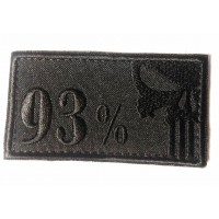 Шеврон 93% Чорний Каратель