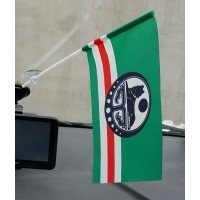 Прапор Ічкерії в авто (білий символ)