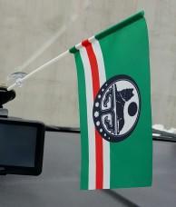Флаг Ичкерии флажок в авто (белый символ)