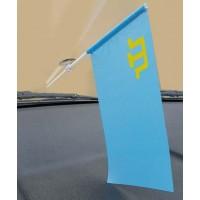 Крымскотатарский флажок в авто