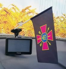Купить Флаг Сили Спеціальних Операцій ЗСУ флажок в авто в интернет-магазине Каптерка в Киеве и Украине
