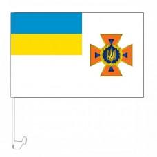Новый флаг ДСНС Украины - флажок на авто
