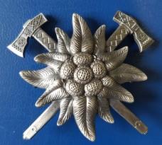 Беретний знак Гірські бригади ЗСУ (Едельвейс)