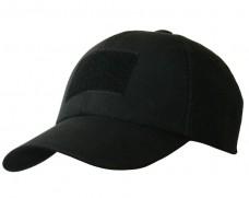 Купить Бейсболка чорна з липучкой велкро в интернет-магазине Каптерка в Киеве и Украине