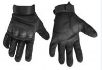 Тактичні рукавиці з м'яким захистом кісточок і пальців (чорні)
