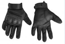 Купить Тактичні рукавиці з м'яким захистом кісточок і пальців (чорні) в интернет-магазине Каптерка в Киеве и Украине