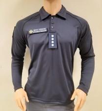 Поло ДСНС Coolmax з рукавами темно-синього кольору