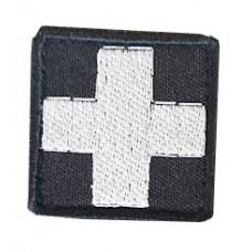 Нашивка медичний хрест чорний