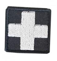 Нашивка Крест медика. Чорний