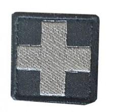 Нашивка Крест медика. Серый