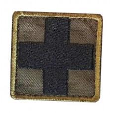 Нашивка медичний хрест ОЛИВА-ЧОРНИЙ
