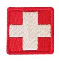 Нашивка медичний хрест червоний