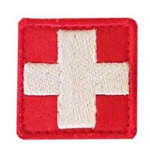 Нашивка Крест медика. Червоний