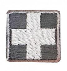 Нашивка Крест медика. СРІБЛО