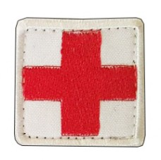 Нашивка Крест медика. Білий
