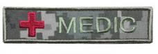 Нашивка Medic з крестом УКРПИКСЕЛЬ камуфляж мультикам