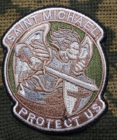 Шеврон Saint Michael Protect Us (хакі-койот)