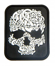 Нашивка Viking Skull белый черный