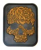 Нашивка Viking Skull койот черный