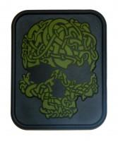 Нашивка Viking Skull M-TAC ПВХ чорний/олива