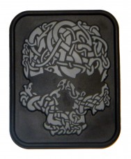 Нашивка Viking Skull серый