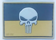 PVC патч Україна Punisher 3D TAN