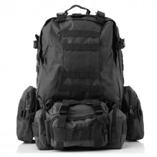 50л рюкзак с подсумками и сумкой в комплекте Silver Knight Черный АКЦІЯ