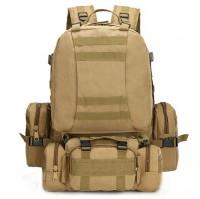 50л рюкзак з підсумками та сумкою в комплекті Coyote