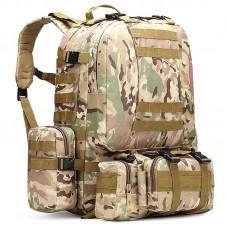 50л рюкзак з підсумками та сумкою в комплекті Silver Knight Мультикам