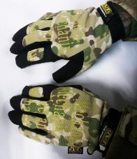 Тактические перчатки камуфлированные