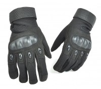 """Тактические перчатки с пластиковыми """"костяшками"""" Черные"""
