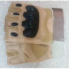 Тактичні рукавички без пальців з накладкамиERGO Coyote