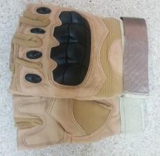 Купить Тактичні рукавички без пальців з накладкамиERGO Coyote в интернет-магазине Каптерка в Киеве и Украине