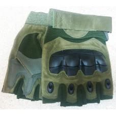 Тактичні рукавички без пальців з накладкамиERGO Olive
