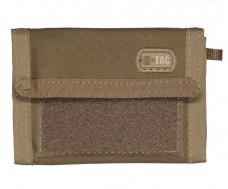 M-Tac кошелек с отделением для карточек и липучкой Coyote Cordura