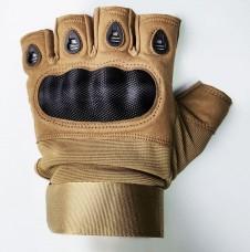 Тактичні рукавиці Carbon безпалі (койот)