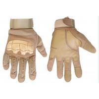 Тактичні рукавиці з м'яким захистом кісточок і пальців (койот)