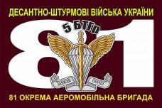 5 БТГр 81 ОАЕМБР прапор марун
