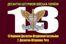 Прапор 13-й Окремий Десантно-Штурмовий Батальйон з вказаним підрозділом на замовлення
