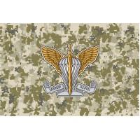 Прапор з емблемою Десантно Штурмових Військ ЗСУ (піксель)