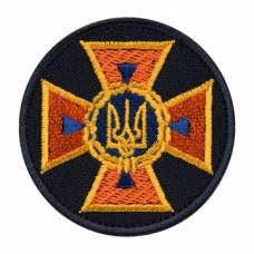 Кокарда ДСНС Україна нового зразка 2018р на липучці