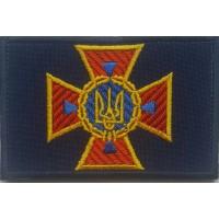 Кокарда ДСНС Україна (прямокутна) на липучці