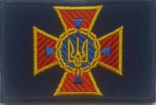 Купить Кокарда ДСНС Україна (прямокутна) на липучці в интернет-магазине Каптерка в Киеве и Украине