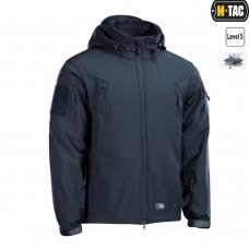 Куртка софтшел M-TAC с флисовой подстежкой DARK NAVY BLUE