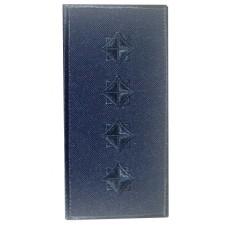Погони капітан ДСНС (синій) Універсальний - муфта-липучка