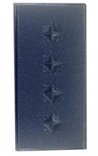 Погон капітан ДСНС (синій) Універсальний - муфта-липучка