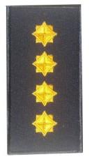 Погони капітан ДСНС (жовтий) Універсальний - муфта-липучка
