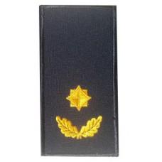 Погони майор ДСНС (жовтий) Універсальний - муфта-липучка