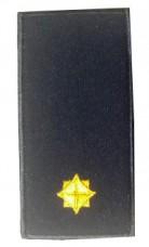 Погон молодший лейтенант ДСНС жовтий Універсальний - муфта-липучка