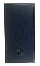 Погон молодший лейтенант ДСНС синій Універсальний - муфта-липучка